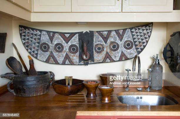 London penthouse furnished with African artefacts