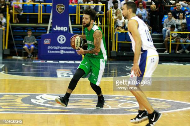 London Perrantes of Limoges during the Trophy Michael Brooks match between Levallois Metropolitans and Limoges on September 1 2018 in Paris France