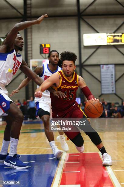 London Perrantes of the Canton Charge drives to the basket against the Grand Rapids Drive at The DeltaPlex Arena for the NBA GLeague on JANUARY 6...
