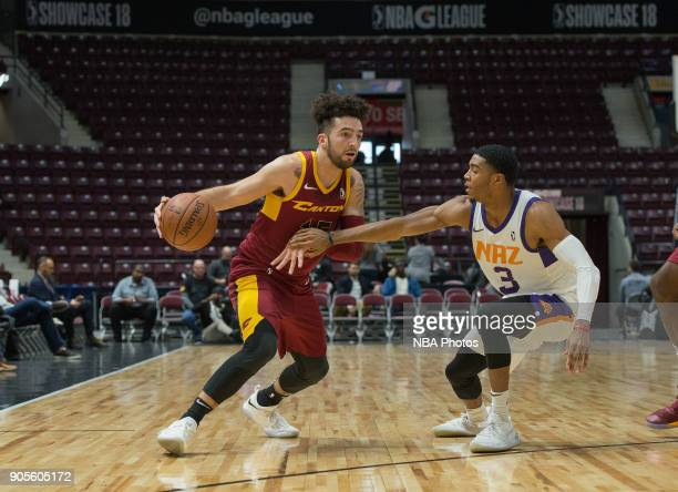 London Perrantes of the Canton Charge drives to the basket against the Northern Arizona Suns during the NBA GLeague Showcase on January 12 2018 at...