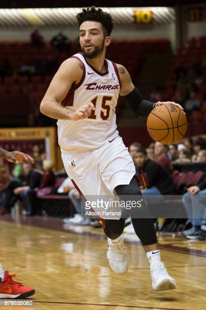 London Perrantes of the Canton Charge handles the ball against the Long Island Nets on November 25 2017 at the Canton Memorial Civic Center in Canton...