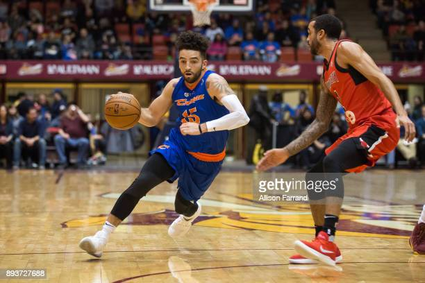 London Perrantes of the Canton Charge handles the ball against the Windy City Bulls on December 15 2017 at the Canton Memorial Civic Center in Canton...