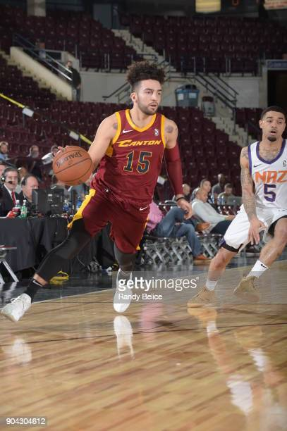 London Perrantes of the Canton Charge handles the ball against the Northern Arizona Suns during the GLeague Showcase on January 12 2018 at the...