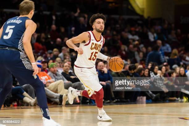 London Perrantes of the Cleveland Cavaliers drives to the basket against the Detroit Pistons during the second half at Quicken Loans Arena on March 5...