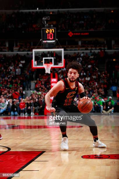 London Perrantes of the Cleveland Cavaliers handles the ball against the Chicago Bulls on March 17 2018 at the United Center in Chicago Illinois NOTE...