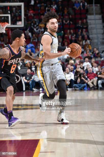London Perrantes of the Cleveland Cavaliers handles the ball against the Phoenix Suns on March 23 2018 at Quicken Loans Arena in Cleveland Ohio NOTE...
