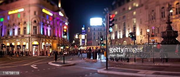 UK, London, Piccadilly Circus at night