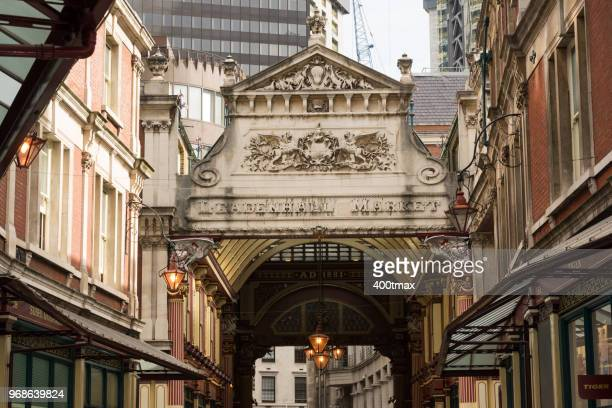 london - leadenhall market stock photos and pictures