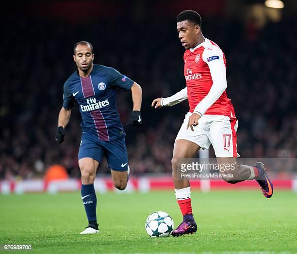 London Pilka Nozna Liga Mistrzow sezon 2016/2017 Arsenal vs Paris SaintGermain n/z Alex Iwobi foto Sebastain Frej / PressFocus London Football UEFA...