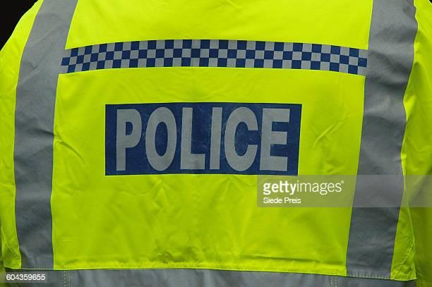 london police jacket - vereinigtes königreich stock-fotos und bilder