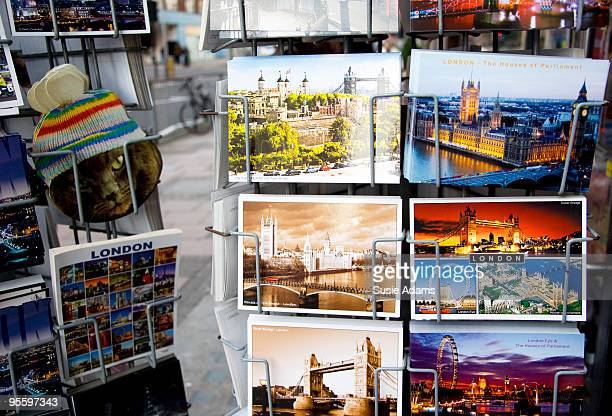 london postcards - rack stock pictures, royalty-free photos & images