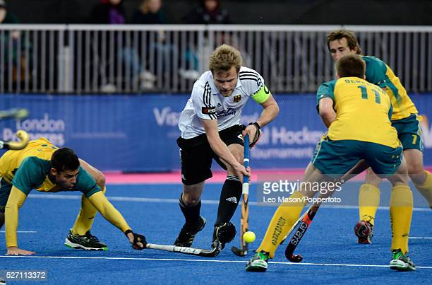 London Prepares Series field Hockey InvitationalMens Final Riverbank Arena Olympic Park Germany Vs Australia Max Mueller GER