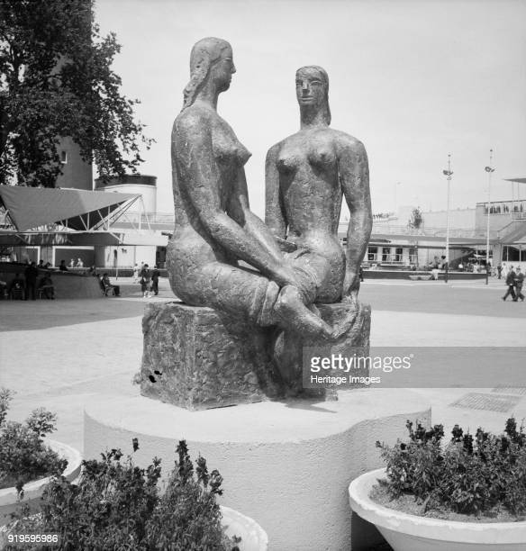 'London Pride' sculpure by Frank Dobson Festival of Britain site South Bank Lambeth London 1951