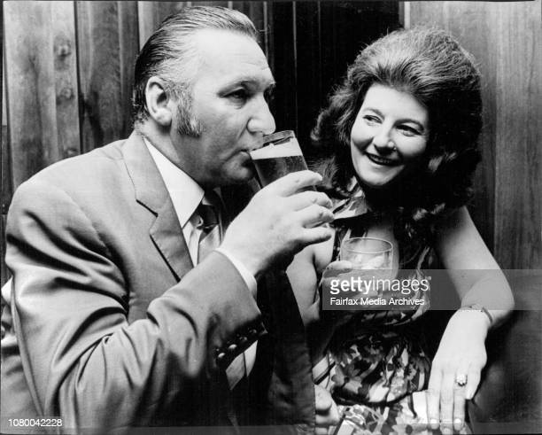 London publican John Sherriff and his wife June sample the local product in the bar of the Sebel Town House Elizabeth Bay last nightThey are on a 2...