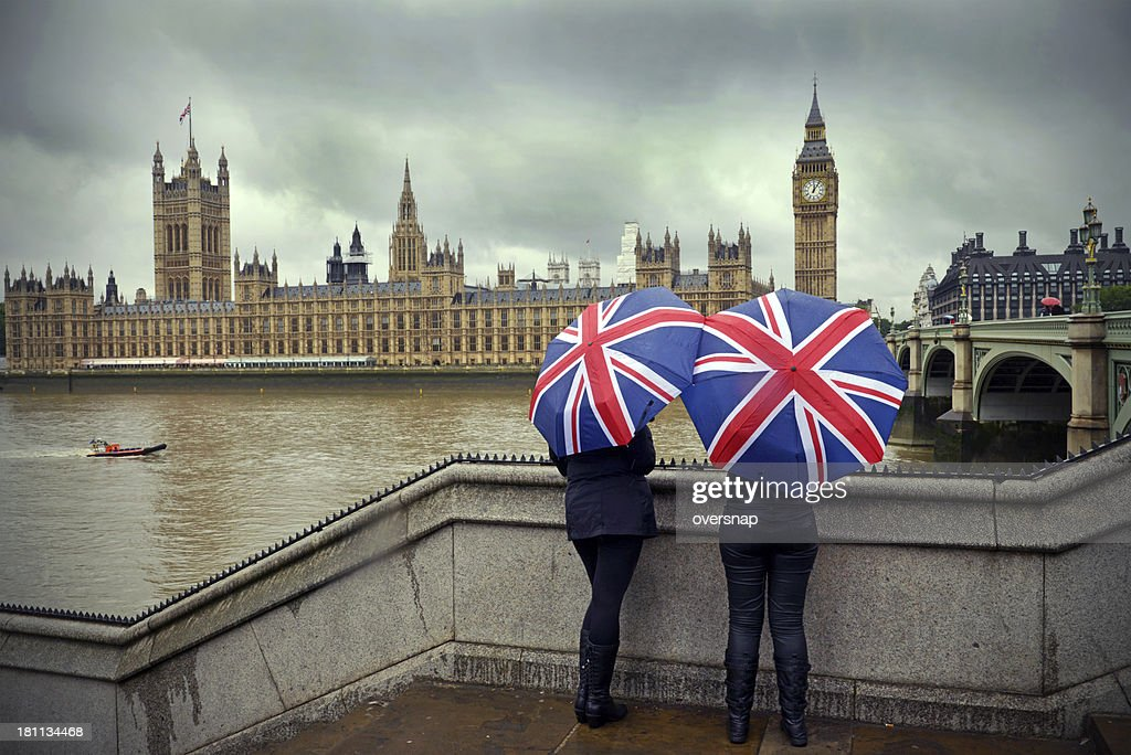 London rain : Stock Photo