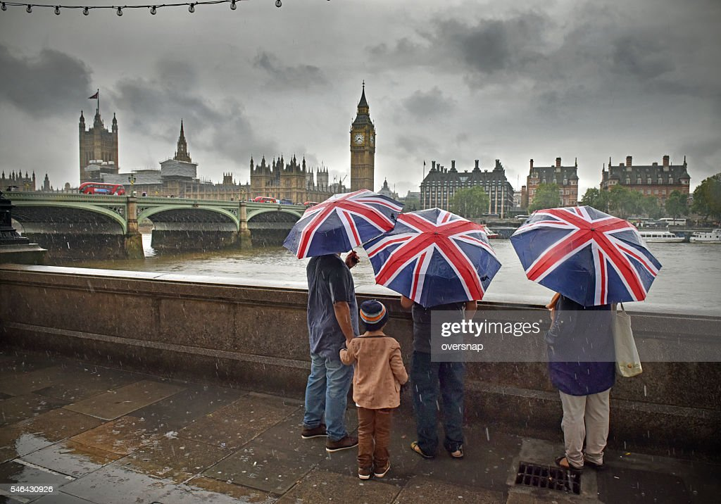 London Rain : Stock Photo