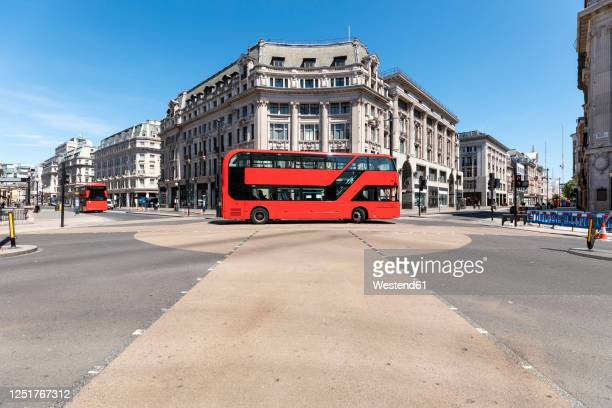 uk, london, red double decker on oxford circus - london stock pictures, royalty-free photos & images