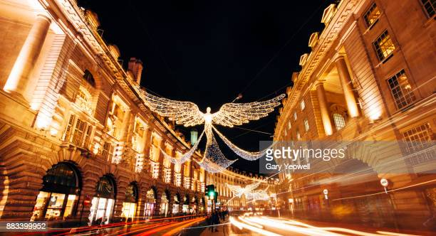 London Regent Street decorated at Christmas