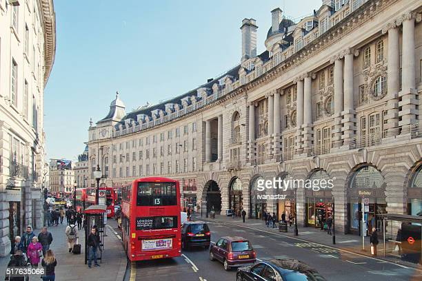 london regent street - west end london stock pictures, royalty-free photos & images