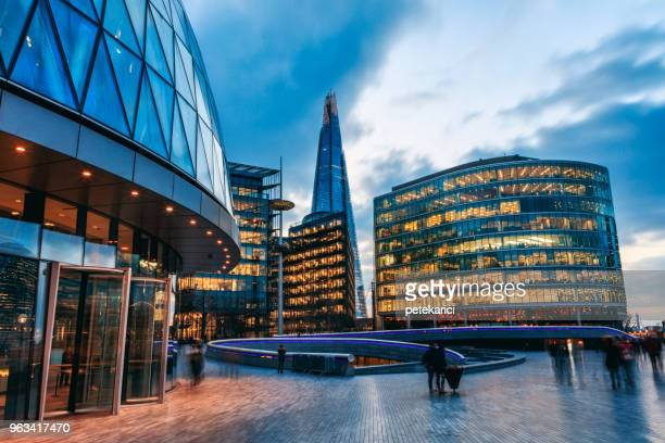 london riverbank - london financial district stock photos and pictures