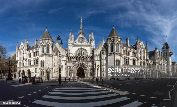 london, royal courts of justice panorama - historical geopolitical location stock photos and pictures