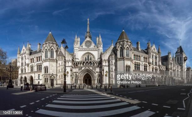 london, royal courts of justice panorama - lugar histórico - fotografias e filmes do acervo