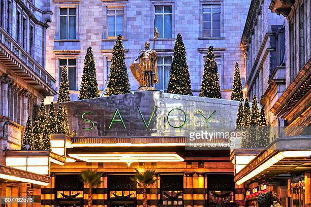 london, savoy hotel, strand - the strand london stock pictures, royalty-free photos & images