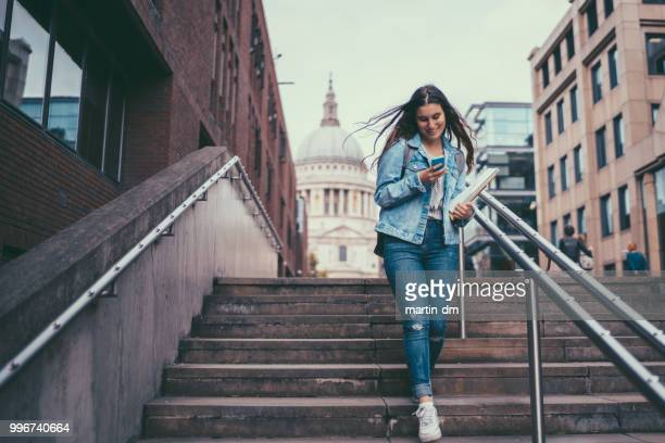 london schoolgirl - down stock pictures, royalty-free photos & images