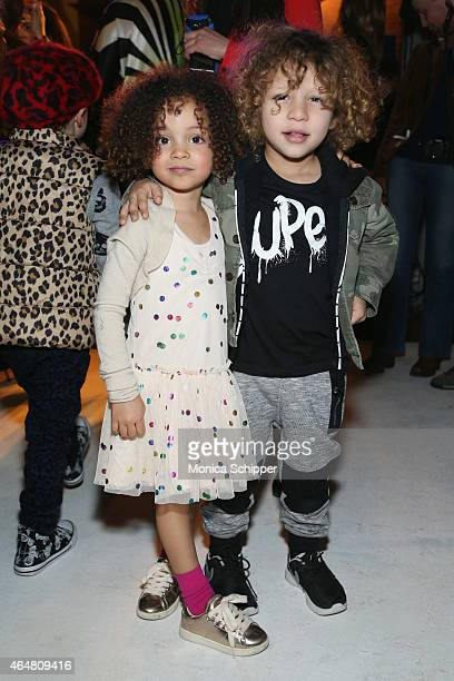 London Scout attends petitePARADE / Kids Fashion Week at Bathhouse Studios on February 28 2015 in New York City