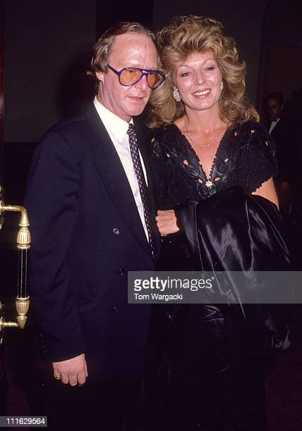 London September 19th 1989 Rula Lenska and Dennis Waterman at musical Miss Saigon