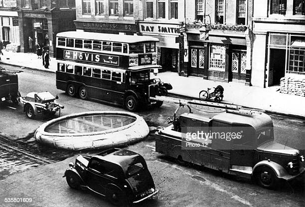 London September 9 1939 Civil defence Fire protection railcar and vat