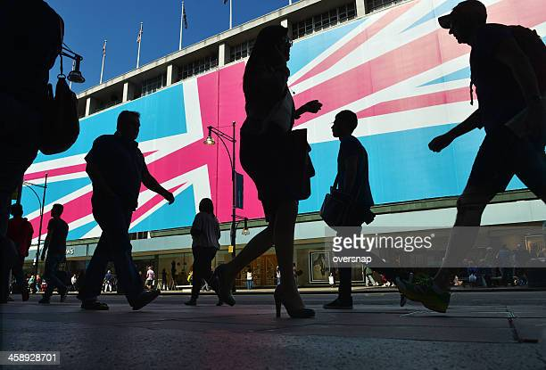 london shopping - oxford street london stock pictures, royalty-free photos & images