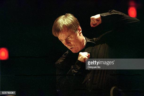 London Sinfonietta performing in the final day of Louis Andriessen Festival at Alice Tully Hall on Saturday night, May 15, 2004.This image:David...