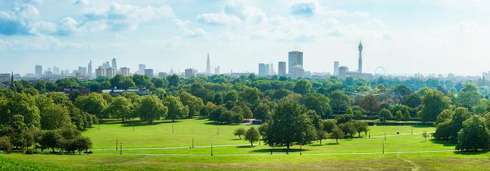 London Skyline and Primrose hill park panorama 520047130