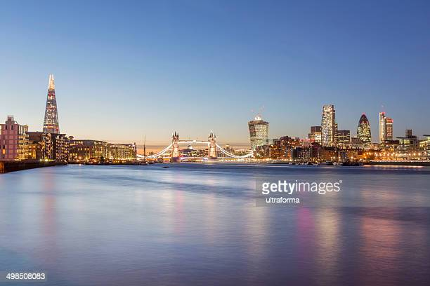 London skyline at dusk