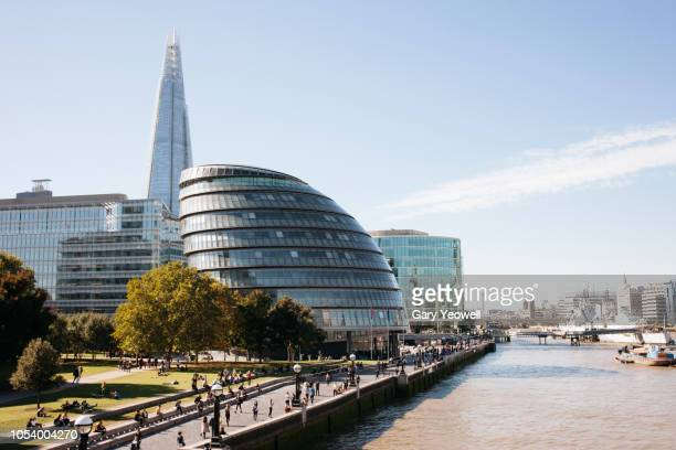 london skyline by southbank - guildhall london stock pictures, royalty-free photos & images