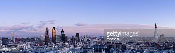 London skyline dusk panorama