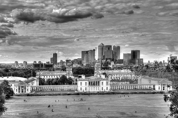 Skyline von London von Greenwich-Observatorium