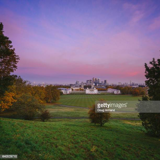 London Skyline from Greenwich Park at  dawn