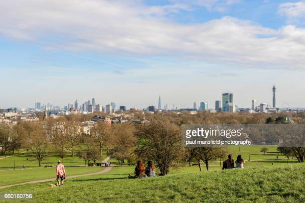 London skyline from Primrose Hill