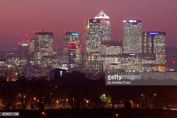 London skyline from Shooter's Hill, South London, United Kingdom