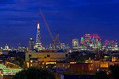 London skyline from south London , United Kingdom