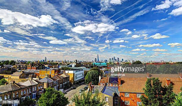 london skyline in the summer - anatoleya stock pictures, royalty-free photos & images