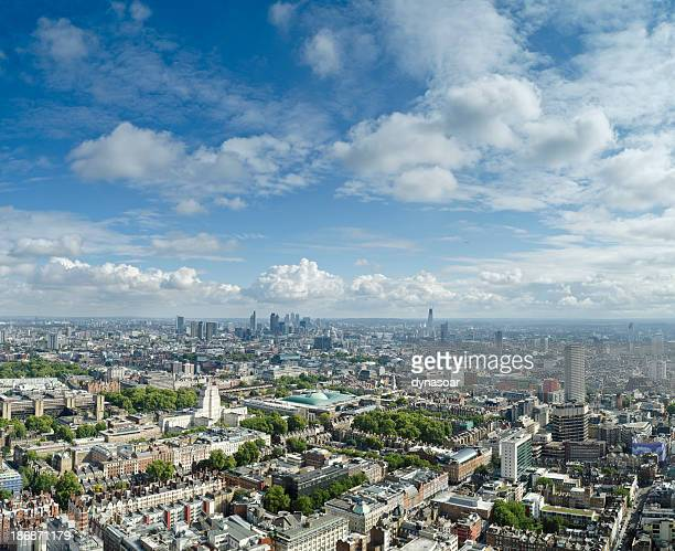 london skyline panorama - greater london stock pictures, royalty-free photos & images