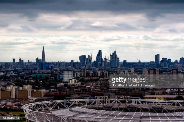london skyline - stratford london stock pictures, royalty-free photos & images