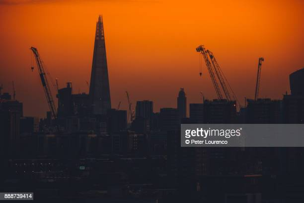 london skyline silhouette - peter lourenco stock pictures, royalty-free photos & images