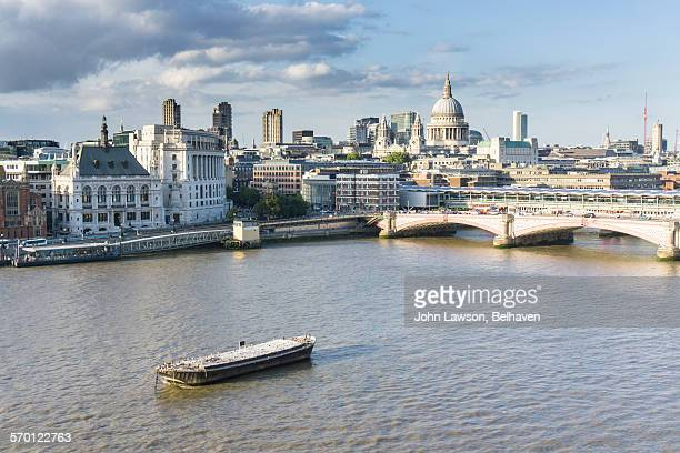 London skyline with St Paul's Cathedral