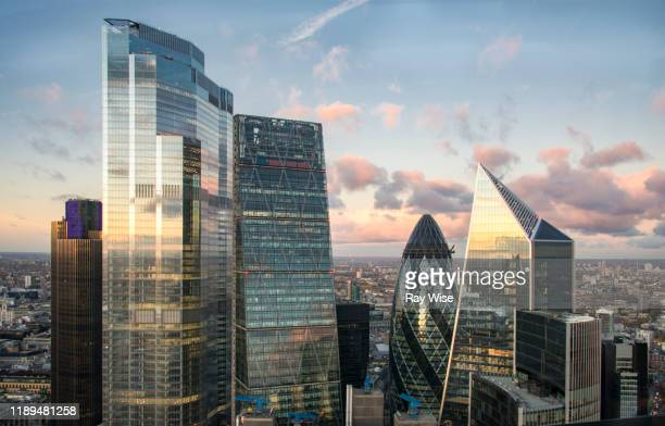 london skyscraper view autumn 2019 - skyline stock pictures, royalty-free photos & images