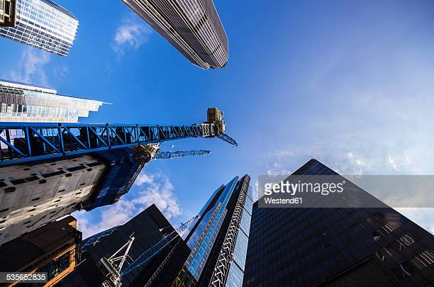 UK, London, Skyscrapers at Lime Street, upward view