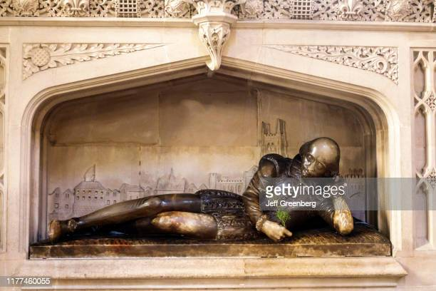 London Southwark Cathedral William Shakespeare alabaster statue
